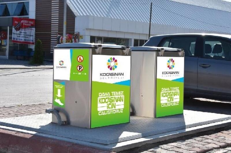 Kocasinan Belediyesi çöp konteynırlarına giydirme yaptı