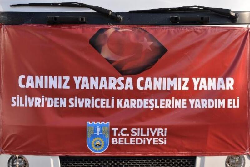 Silivri Belediyesi'nden Sivrice'ye yardım eli
