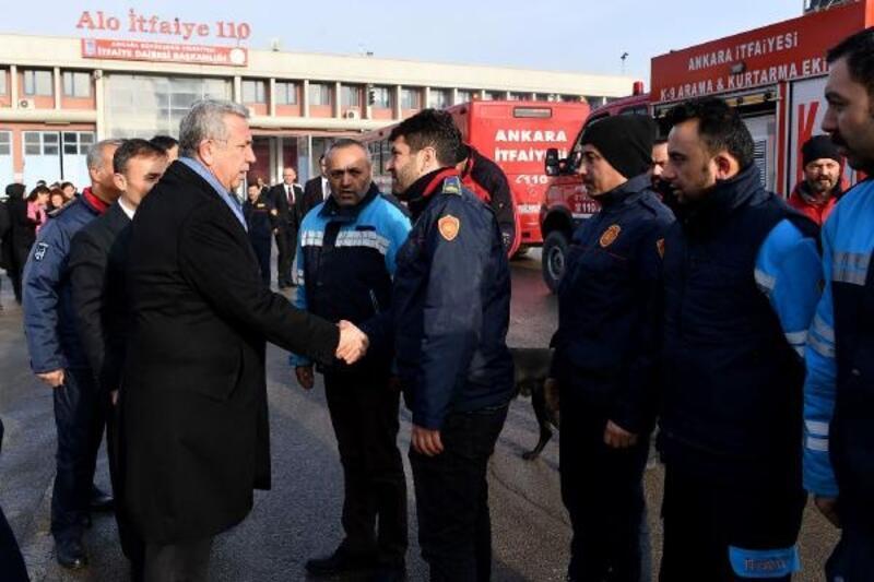 Ankara İtfaiyesi arama kurtarma ekibi Ankara'ya döndü