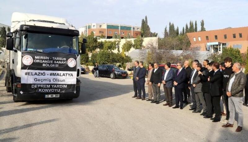 Mersin'den Elazığ ve Malatya'ya 7 TIR yardım