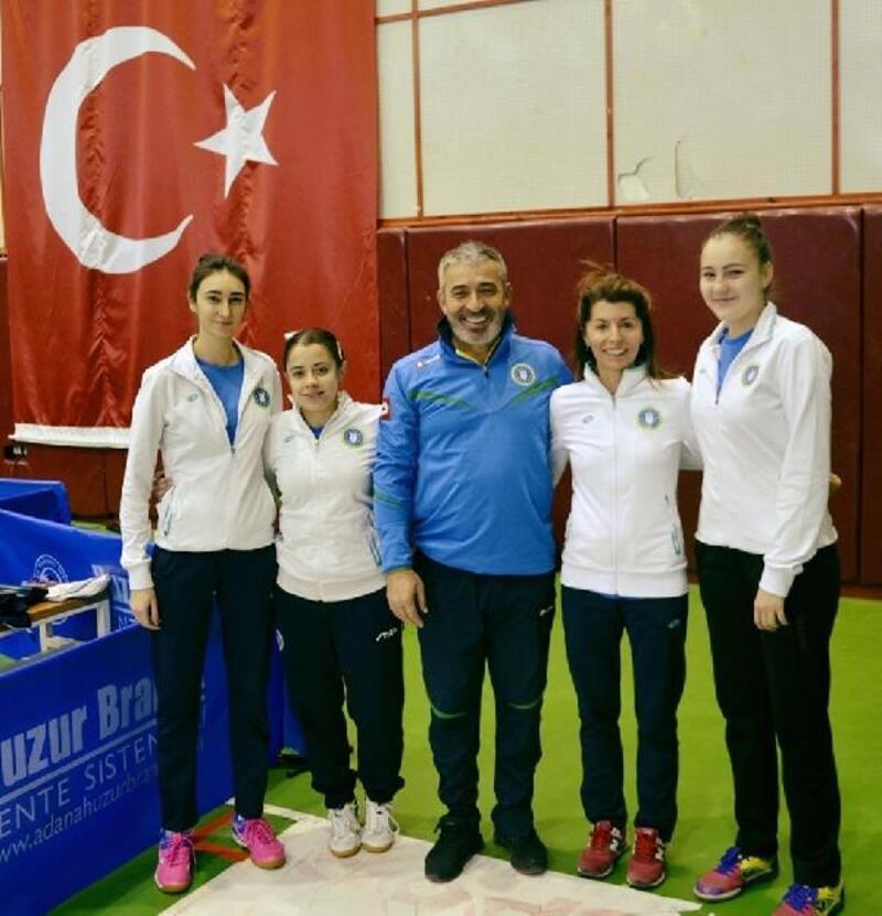 Bursa BŞB Kadın Masa Tenisi Takımı, ilk yarıyı lider tamamladı
