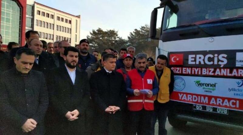 Erciş'ten depremzedeler için yardım gönderildi
