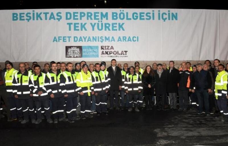 Beşiktaş'tan deprem bölgesine yardım gönderildi