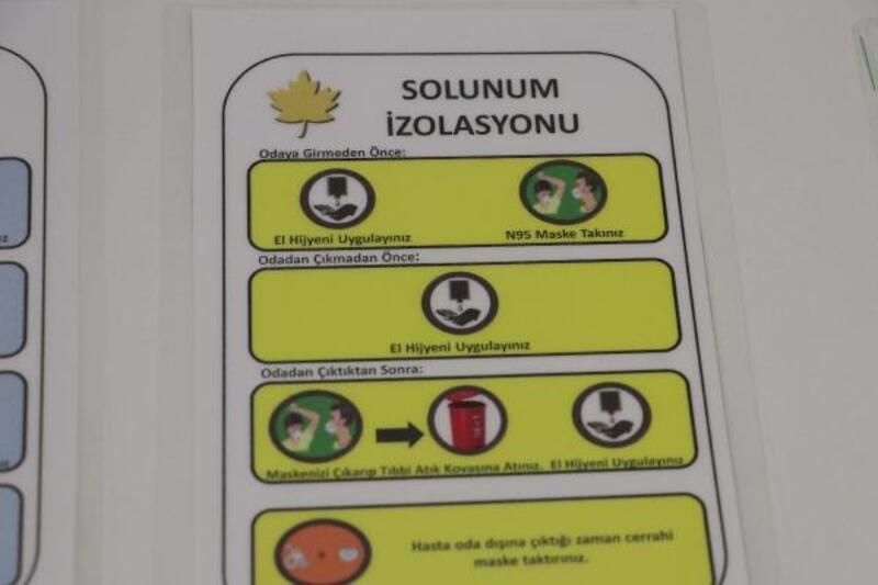 Ülke genelinde 25 hastanede 'coronavirüs'e karşı özel oda oluşturuldu