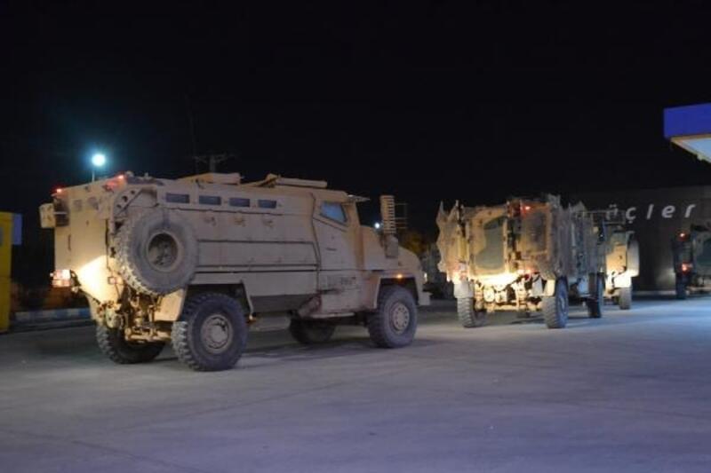 Suriye sınırına gece sevkiyatı