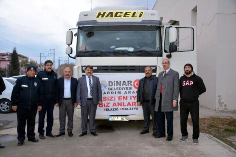Dinar'dan depremzedelere yardım