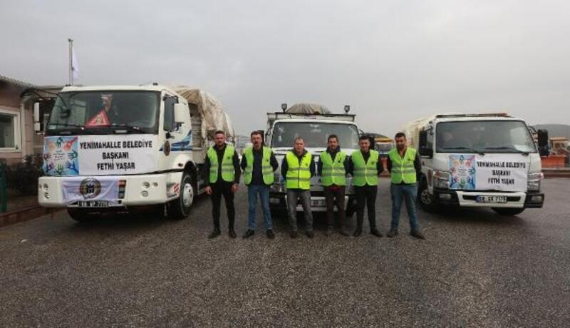 Yenimahalle'den gönderilen yardımlar deprem bölgesine ulaştı