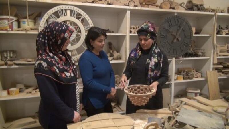 'Ahşap oymacılığı' kursuna kadınlardan yoğun ilgi