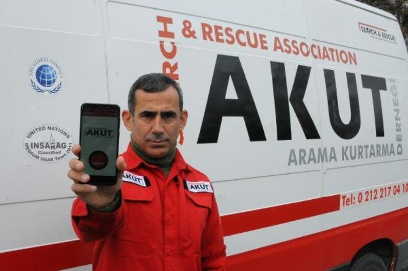 AKUT'un 'Güvendeyim' uygulamasına depremden sonra ilgi
