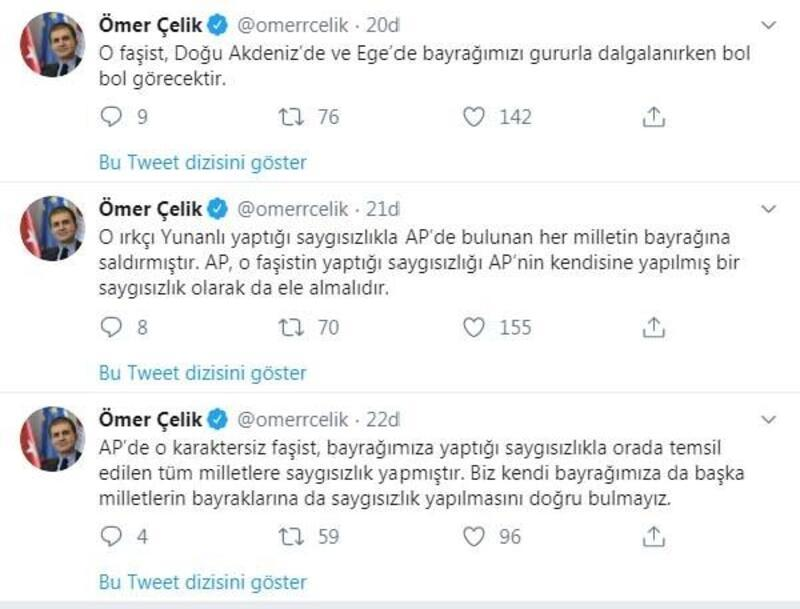 AK Parti Sözcüsü Çelik'ten Türk bayrağını yırtan Yunan vekile tepki