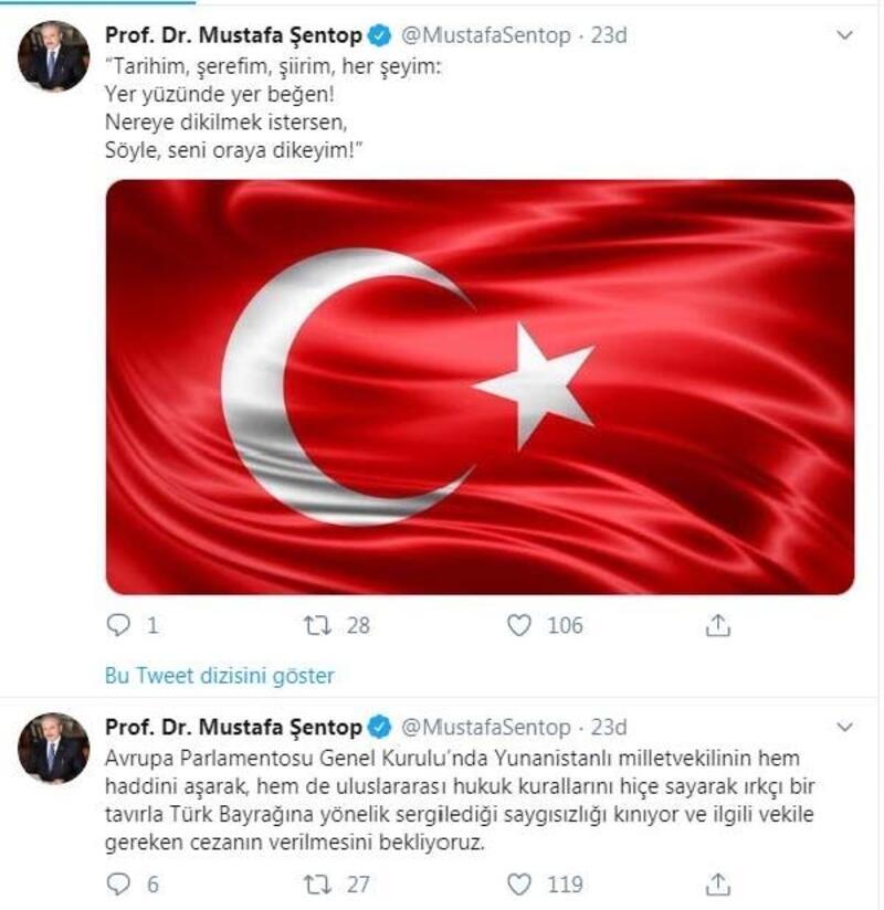 TBMM Başkanı Şentop'tan, Yunan vekile tepki