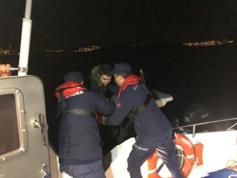 Bodrum açıklarında 16 kaçak göçmen ve 1 organizatör yakalandı