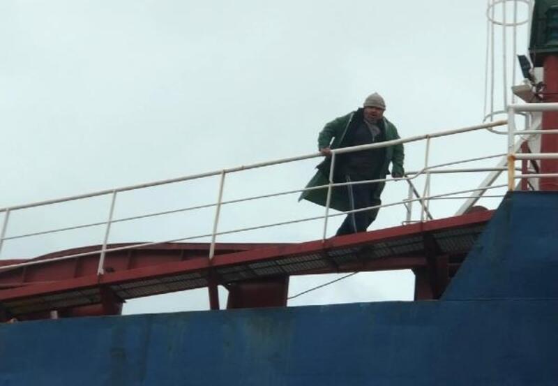 Hatay'da gemi karaya oturdu