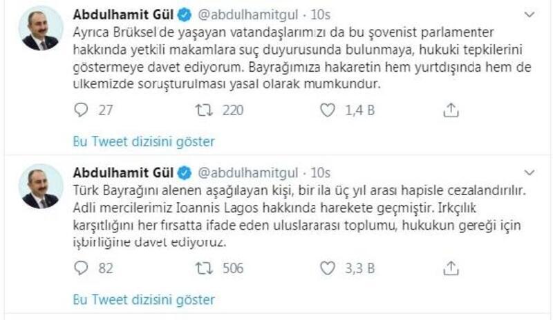 Türk bayrağını yırtan Yunan milletvekiline soruşturma