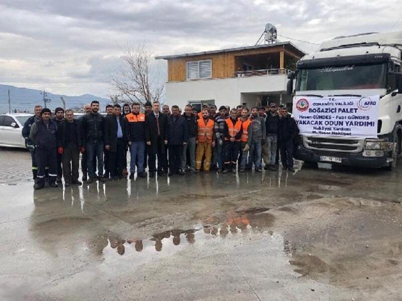 Osmaniye'den Elazığ'daki depremzedeler için yakacak yardımı