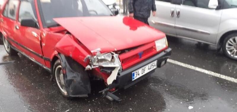 Mardin'de yağış zincirleme kaza getirdi