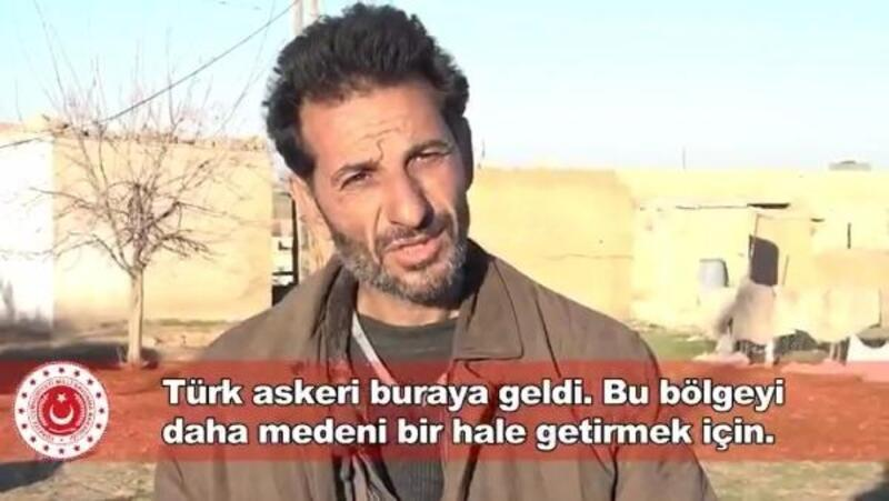 Barış Pınarı bölgesinde Türk askerine teşekkür