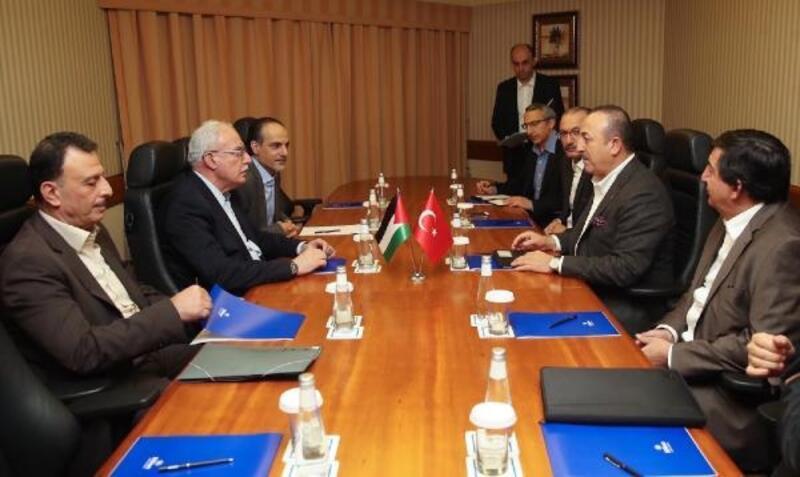 Çavuşoğlu, Filistinli mevkidaşı Al Maki ile görüştü