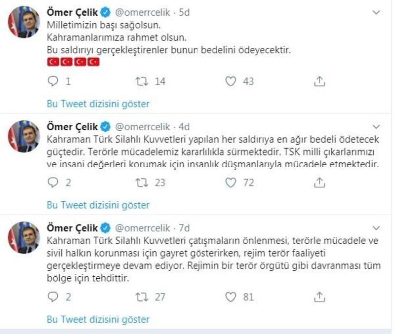AK Parti'li Çelik: Saldırıyı gerçekleştirenler, bedelini ödeyecek