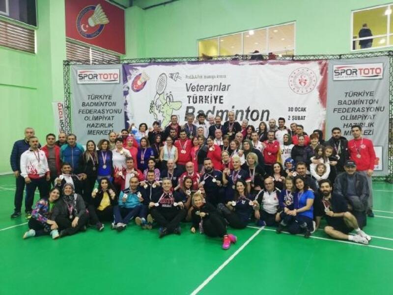 Veteranlar Türkiye Badminton Şampiyonası sona erdi