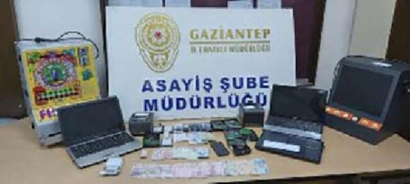 Gaziantep'te yasa dışı bahis operasyonu: 15 gözaltı