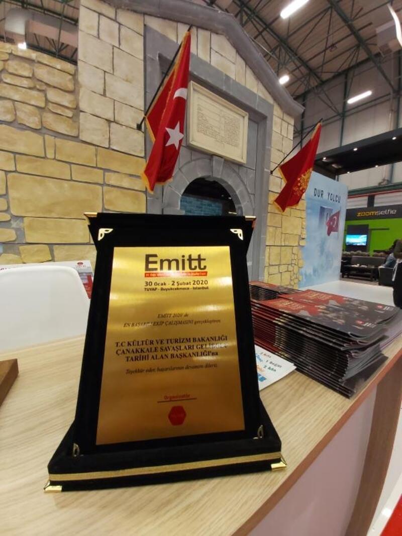 EMITT'te, Tarihi Alan Başkanlığı'na 'En İyi Ekip Çalışması' plaketi verildi