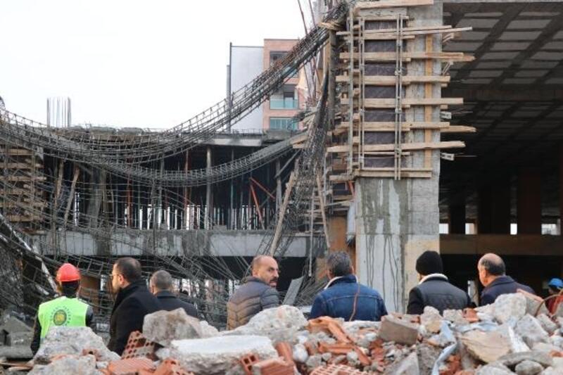 Diyarbakır'da inşaatta çökme: 2 yaralı