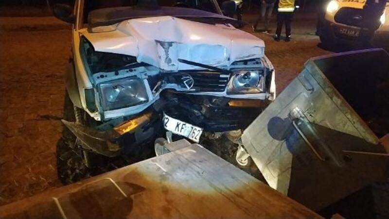 Edirne'de alkollü sürücü kaza yaptı, 1 yaralı