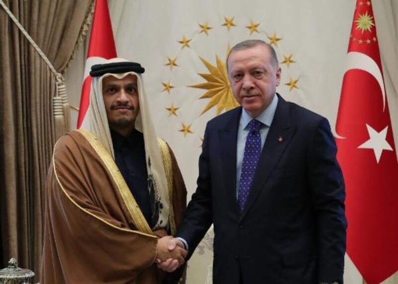 Cumhurbaşkanı Erdoğan, Katar Başbakan Yardımcısı Al Thani'yi kabul etti