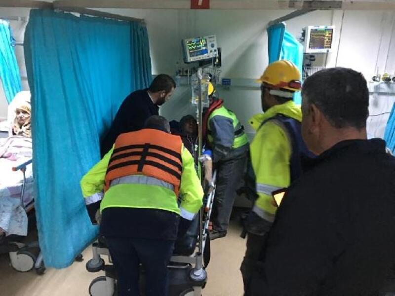 Termik santral inşaatında kaza: 2 yaralı