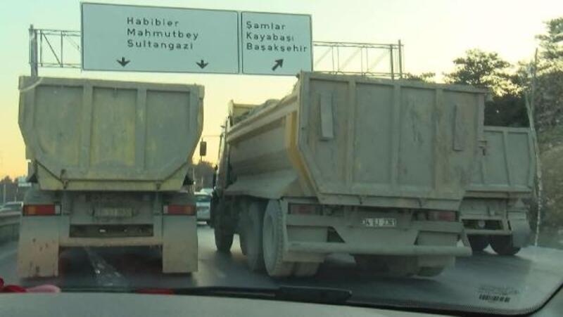 Sürücülere hafriyat kamyonu duvarı