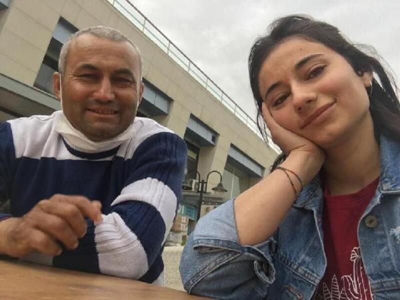 Lösemi hastası Ebru, aynı hastalıktan ölen babasını son yolculuğuna uğurladı
