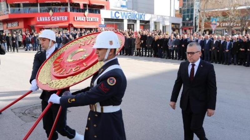 Atatürk'ün Niğde'ye gelişinin yıl dönümü kutlandı