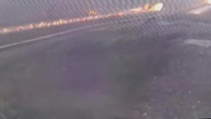 Sabiha Gökçen'de uçağın pistten çıkmasına ilişkin yeni görüntü