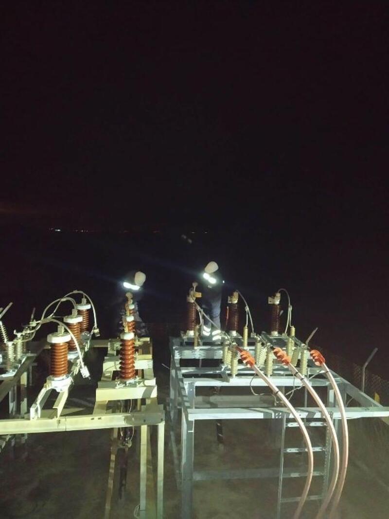 Marmara Adası'na ana hattan elektrik verilmeye başlandı
