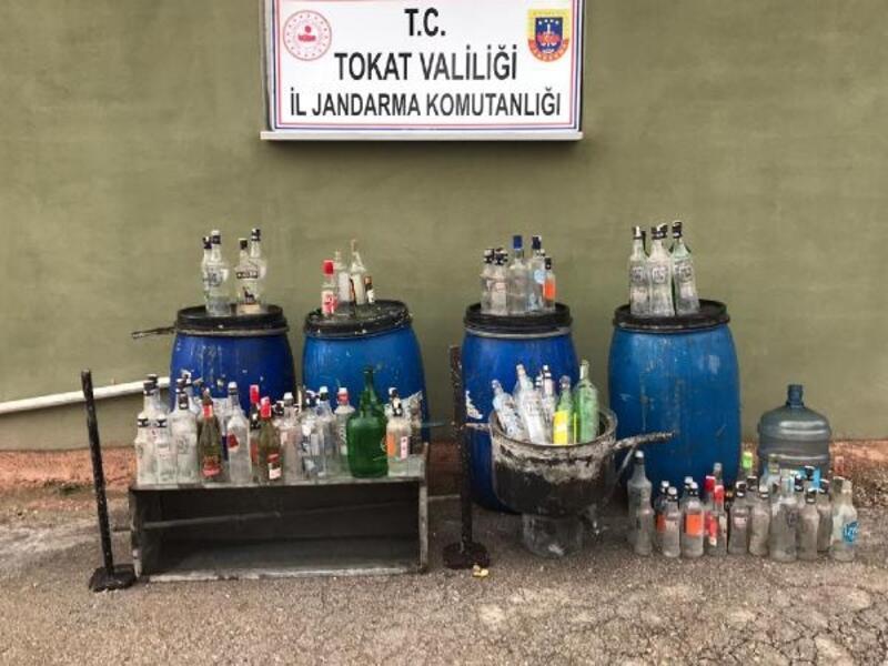 Tokat'ta kaçak içki operasyonu