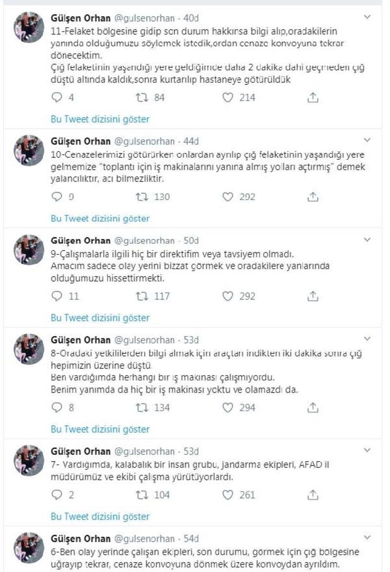 Cumhurbaşkanı Başdanışmanı Orhan'dan 'çığ' açıklaması