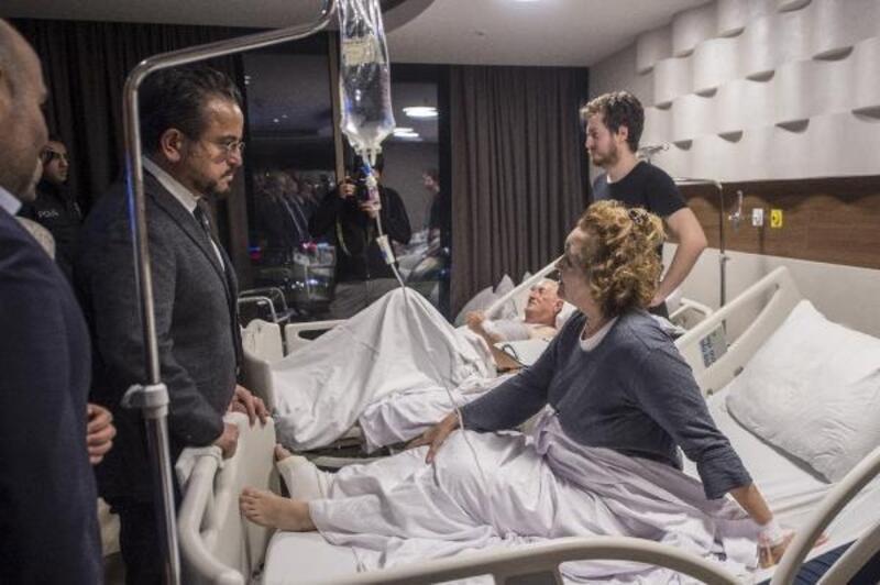 Pegasus Yönetim Kurulu başkanı Ali Sabancı kazada yaralananları ziyaret etti