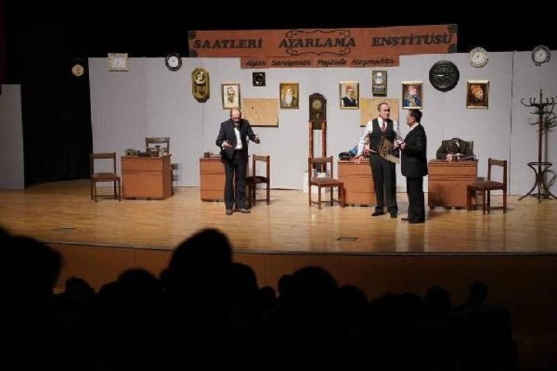 Erbaa'da tiyatroya yoğun ilgi