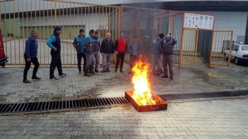 Bahçeşehir Stadı'nda yangın tatbikatı