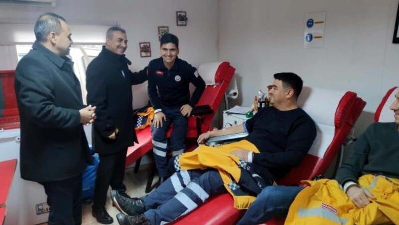 Osmaniye'de, 112 çalışanları kök hücre bağışında bulundu