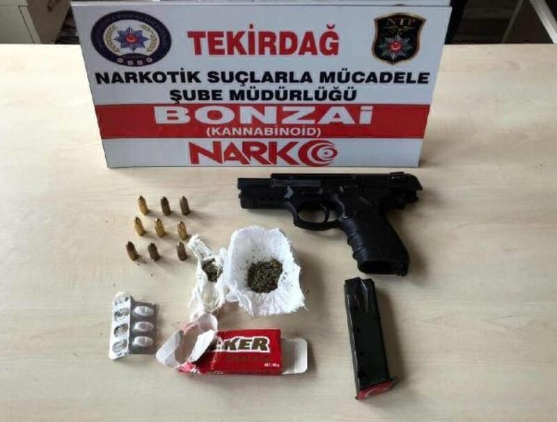 Tekirdağ'da uyuşturucu ve tabanca ele geçti: 6 gözaltı