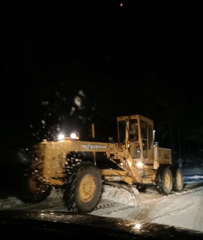 Bucak'ta karla mücadele