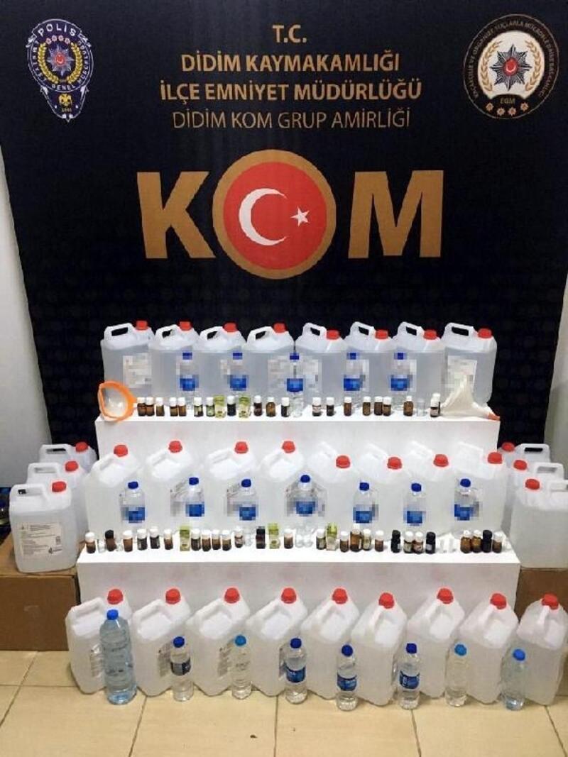 Didim'de sahte içki operasyonu: 2 gözaltı