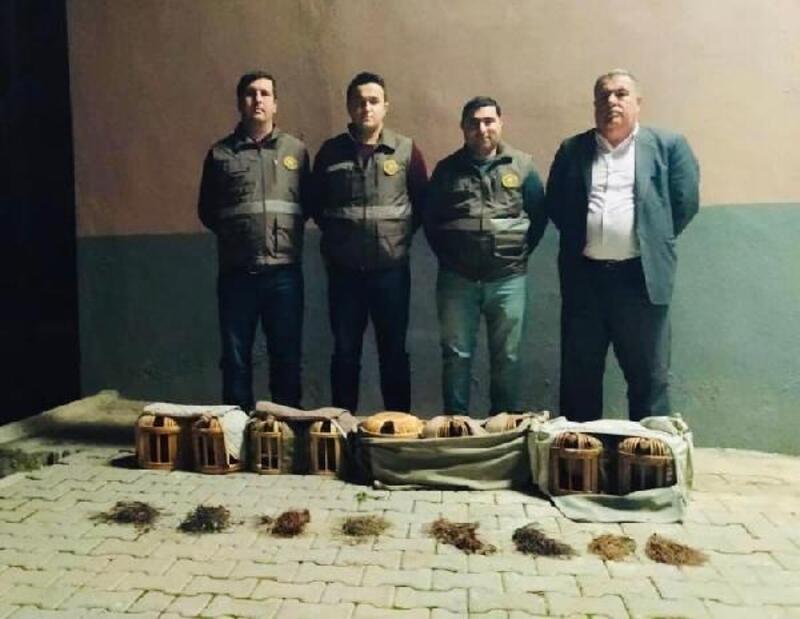 Şanlıurfa'da keklik avlayan 4 kişiye işlem yapıldı