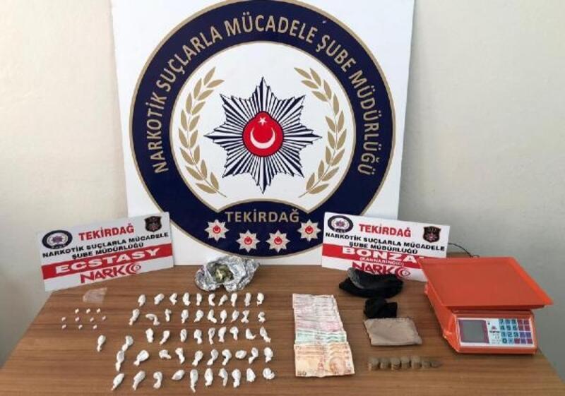 Tekirdağ'da uyuşturucu operasyonu: 4 gözaltı