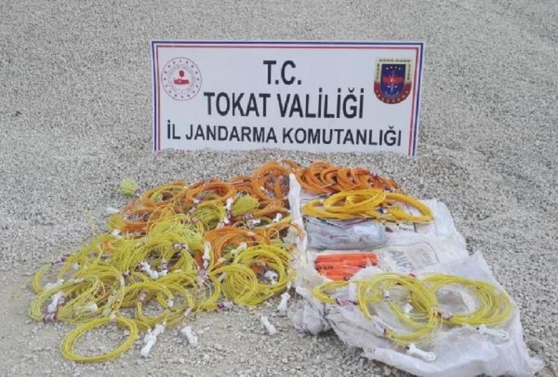 Tokat'ta Jandarma'dan patlayıcı madde operasyonu