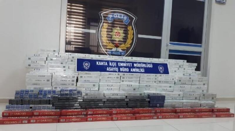 Kahta'da 5 bin kaçak sigara ele geçirdi