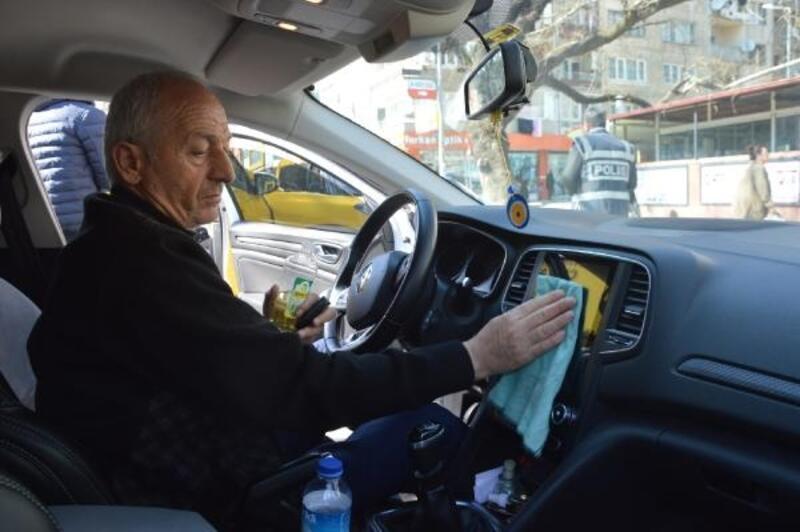 Orhangazili taksicilerden koronavirüs önlemi