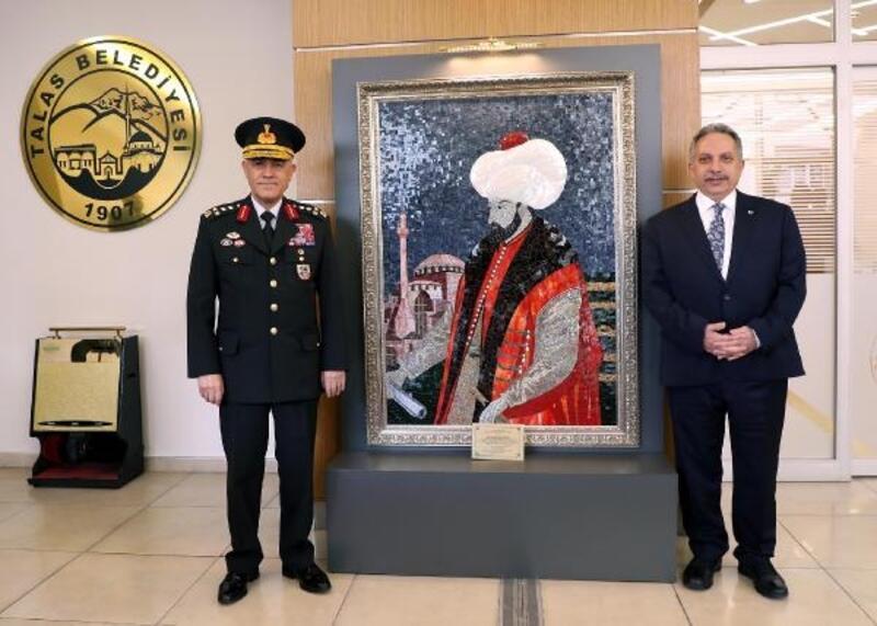 Orgeneral Çetin'den, Başkan Yalçın'a ziyaret